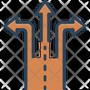Split Divided Echeloned Icon