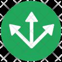 Split Three Ways Icon