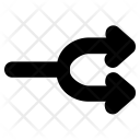Split Arrows Two Way Icon