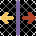 Split Vertical Text Icon