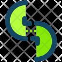 Split Circles Symbol Icon
