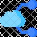 Split Cloud Icon