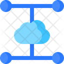 Split Cloud System Icon
