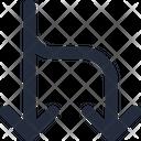 Connector Split Down Icon