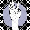 Split Fingers Fingers Finger Icon