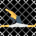 Split Leap Gymnast Icon