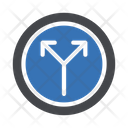 Split Road Arrow Icon