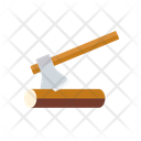 Splitting Axe Axe Log Wood Icon