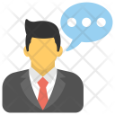 Spokesman Spokesperson Dialogue Icon