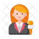 Spokesperson Female Spokesperson Journalist Icon