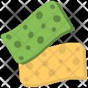 Two Sponges Cloth Icon