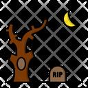 Graveyard Cemetery Halloween Icon