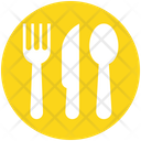 Spoons Set Flatware Fork Icon