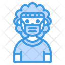 Sport Man With Mask Icon