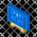 Sport News Tv Icon