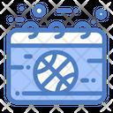 Calendar Basketball Game Icon