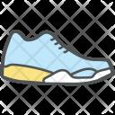 Sportive Shoe Sneaker Icon