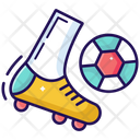 Playing Soccer Football Playing Outdoor Game Icon