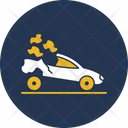 Sports Car Crash Icon