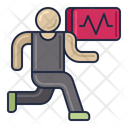 Sports Science Running Heartbeat Icon