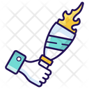 Olympic Torch Sports Torch Sports Flame Icon