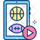 Sports Videos Sports Streaming Games Videos Icon