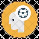 Sportsman Mind Game Thinking Head Icon