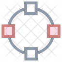 Spread Expand Intersect Icon