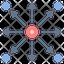 Spread Distribution Direction Icon
