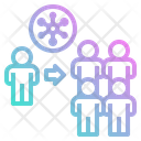 Spread Virus Carrier People Contagious Icon