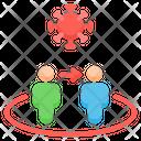 Spread Virus Transmission Coronavirus Icon