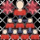 Spreading People Spreading Virus Users Icon