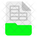 Spreadsheet File Format Icon