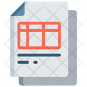 Spredsheet Document Icon