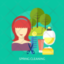 Spring Cleaning Women Icon