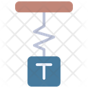 Spring Weight Science Icon