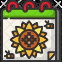 Spring Calendar Springtime Icon