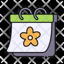 Spring Calendar Flower Icon