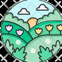 Spring Background Flower Icon