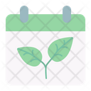 Calendar Growing Sprout Icon