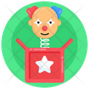 Toy Spring Spring Toy Head Fool Box Icon