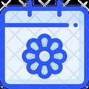 Calendar Flower Spring Icon