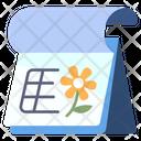 Spring Flower Calendar Icon