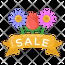 Season Sale Banner Flower Sale Spring Sale Icon