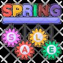 Season Sale Flower Sale Spring Sale Labels Icon