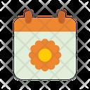 Spring Season Calendar Spring Time Icon