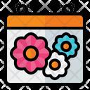 Spring Season Calendar Spring Icon