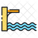 Springboard Water Sports High Diving Icon