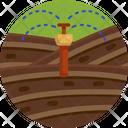 Sprinkle Irrigation Garden Icon