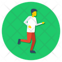 Sprint Athlete Runner Icon